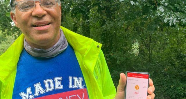 Andrew finishes Virtual London Marathon